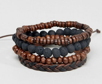 ASOS Leather and Beaded Bracelets