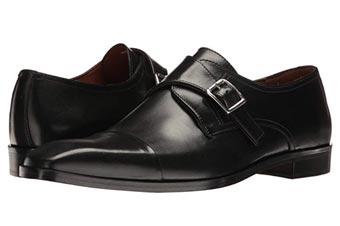 black single monkstrap shoes