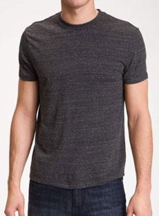 Nordstrom Grey Crew-Neck T-shirt