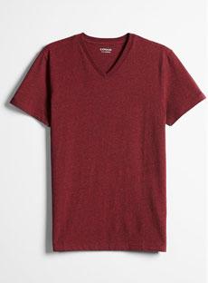 Express Red V-Neck T-Shirt