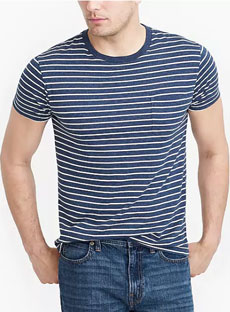 J.Crew Striped Pocket T-shirt