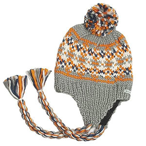 knit cap with tassels