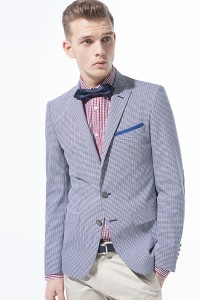 checked shirt and bow tie