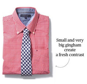 pattern balanced shirt & Tie
