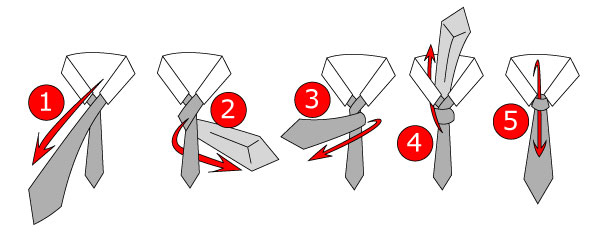 Four-in-Hand Tie Knot Instructions
