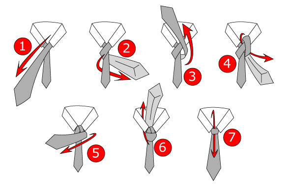 Half Windsor Tie Knot Instructions