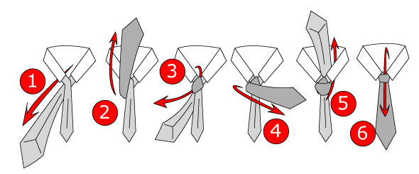 Tying a simple (small/oriental) tie knot: step by step tutorial.