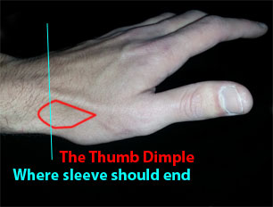 Thumb dimple