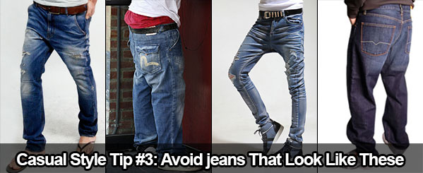 Casual Style Tip #3: Avoid jeans that look like these