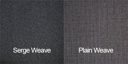 Difference between serge and plain weave