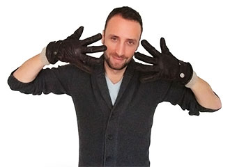 Robert wearing gloves
