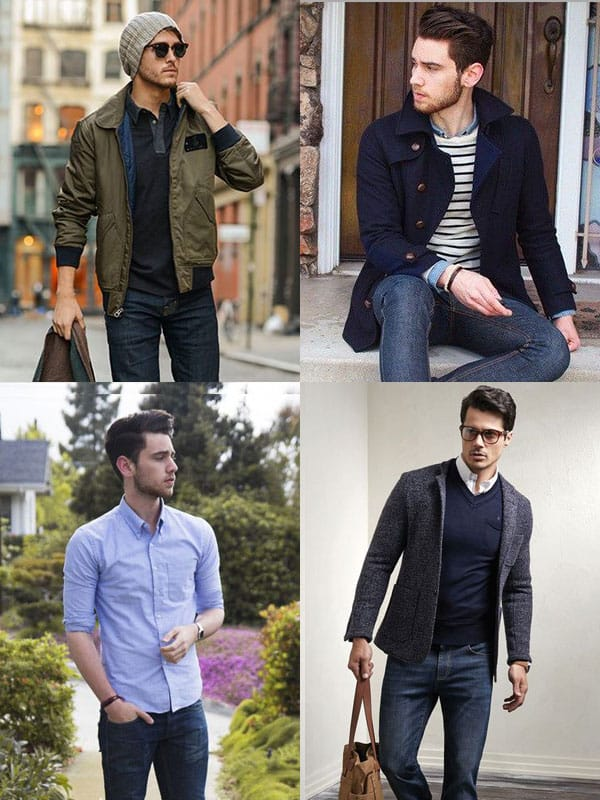 Casual men in jeans