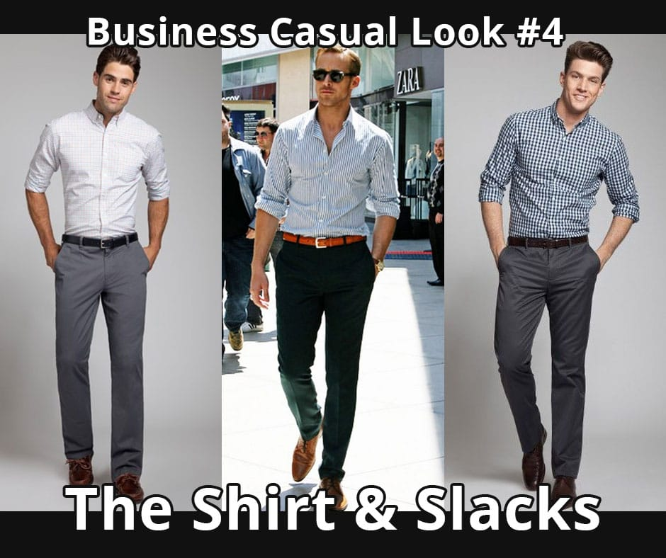 bb77fb2cda This is the most casual of the business-casual looks. It leaves both the  jacket and tie at home. Like with the previous look, go with dress pants  rather ...