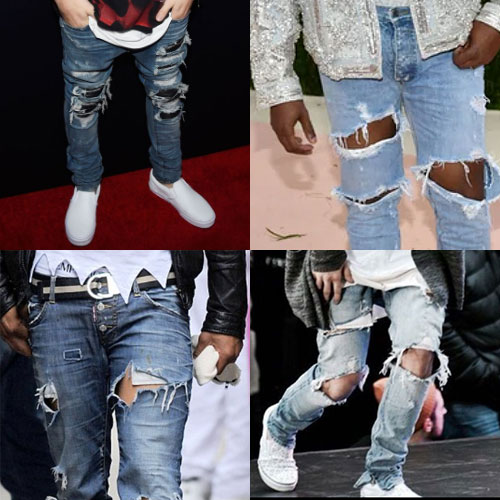 ripped jeans examples