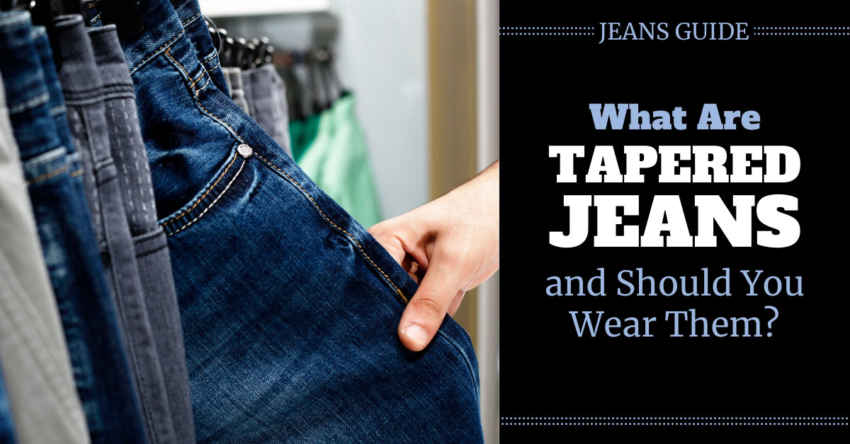 what are tapered jeans
