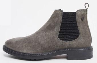 Base London Seymour Charcoal Chelsea Boots