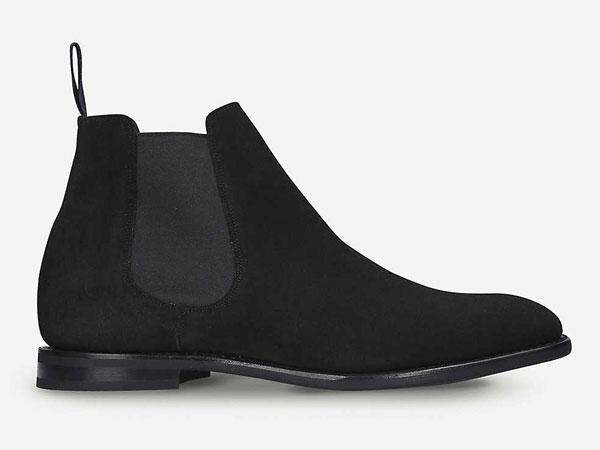 Church's Preston Black Suede Chelsea Boots