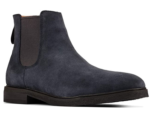 Clarkdale Gobi Navy Suede Chelsea boots