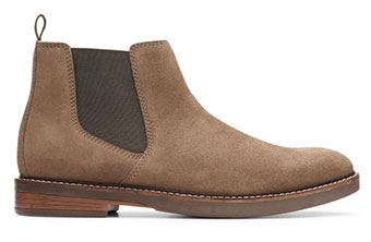 Clarks Paulson Up Olive Suede