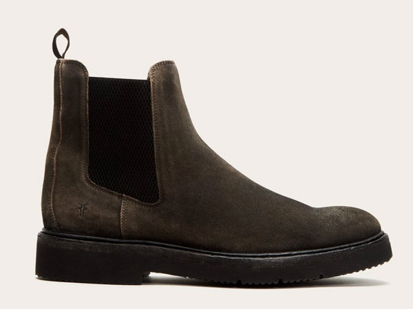 Frye Bowery Light Faded Black Chelsea Boots
