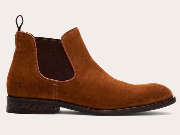 Frye Grant medium brown Chelsea Boots