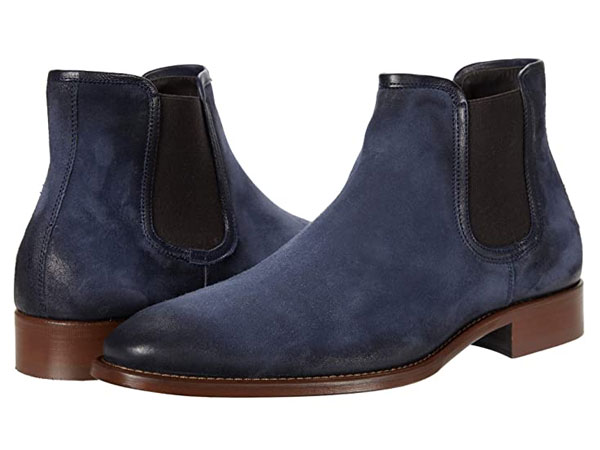 Johnston & Murphy Blue Suede Chelsea boots