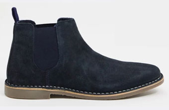 Red Tape Navy Suede Chelsea Boots