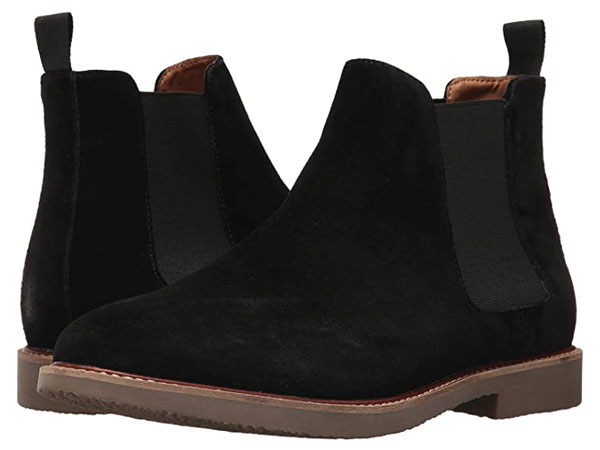 Steve Madden Black Suede Chelsea Boots