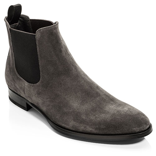 To Boot New York Grey Suede Chelsea Boots