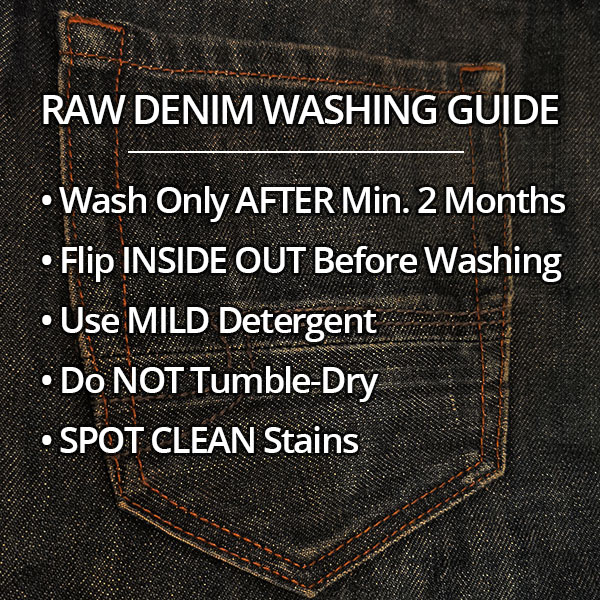 How to wash raw denim