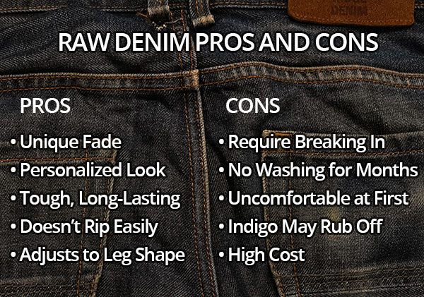 raw denim pros and cons