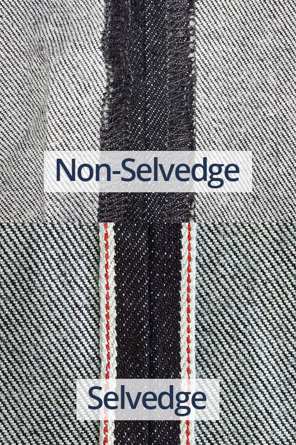 Selvedge vs non-selvedge denim