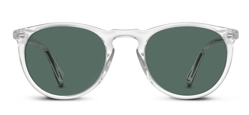 Round sunglasses with crystal frame