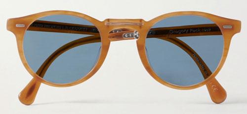 Wood round sunglasses