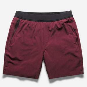 Red gym shorts