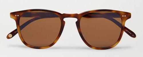 Tortoise shell D-frame sunglasses (slim frame)