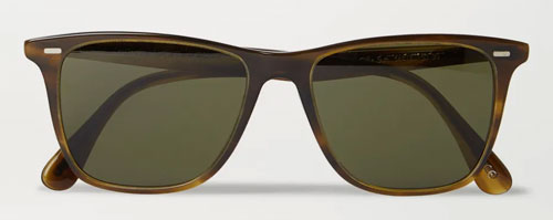 Brown D-frame sunglasses