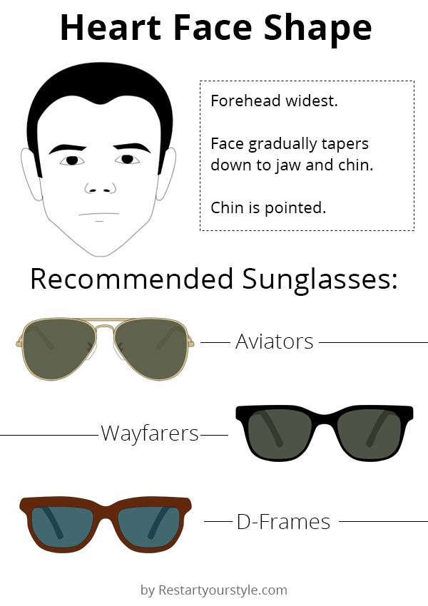 Sunglasses for heart face shape