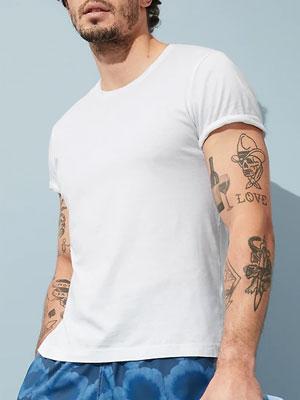 White T-shirt from Banana Republic