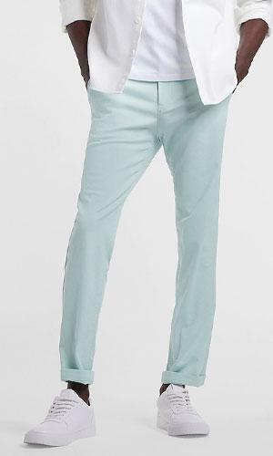 Turquoise chino pants