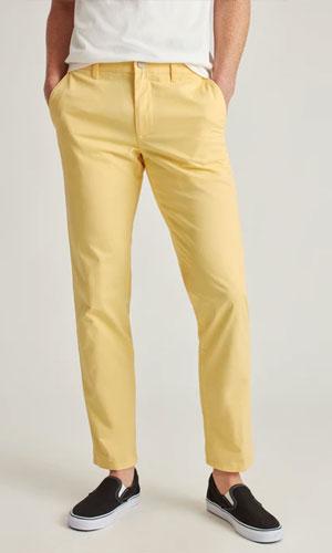 Yellow chino pants