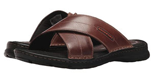 large strap leather sandals