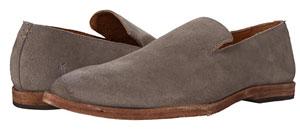 Grey suede Venetian loafers
