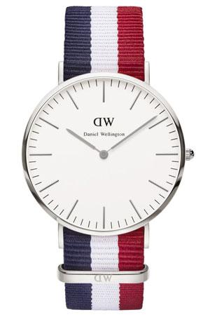 multi-color strap watch