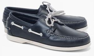 Dark blue boat shoes