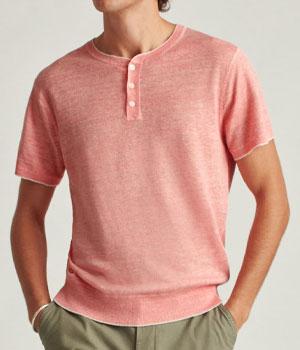 Pink Henley shirt