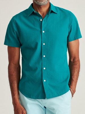 Green short-sleeve shirt