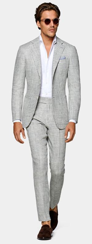 Grey cotton suit