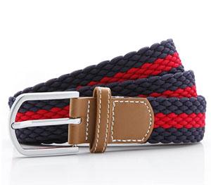 Grey red canvas belt